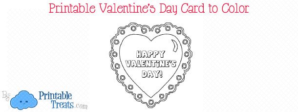 Free Printable Girly Stationery Printable Treats – Valentines Cards to Color