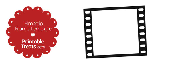 Printable Vertical Filmstrip Frame Template — Printable Treats.com