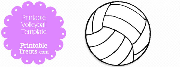 Printable volleyball template — treats