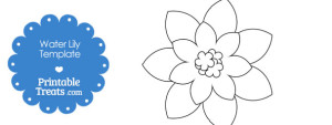 free-printable-water-lily-template