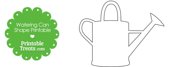 Printable Watering Can Shape