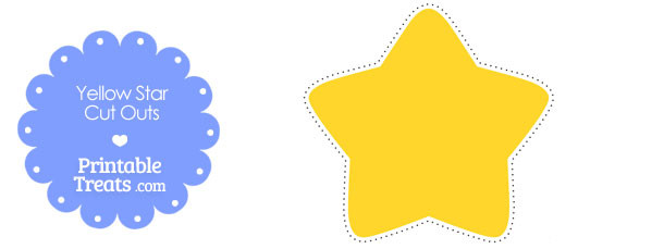 graphic relating to Star Printable identify Printable Yellow Superstars in the direction of Slice Out Printable