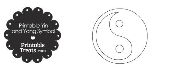 Printable Yin and Yang Symbol