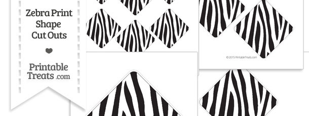 Printable Zebra Print Diamond Cut Outs