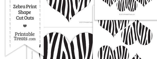 Printable Zebra Print Heart Cut Outs
