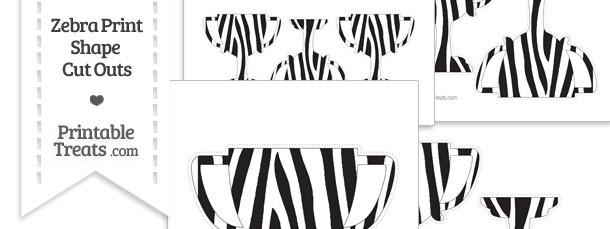 Printable Zebra Print Trophy Cut Outs