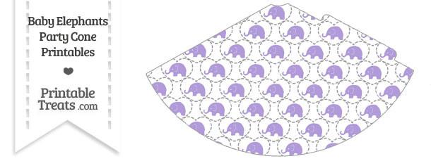 Purple Baby Elephants Party Cone