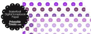 Purple Basketball Digital Scrapbook Paper