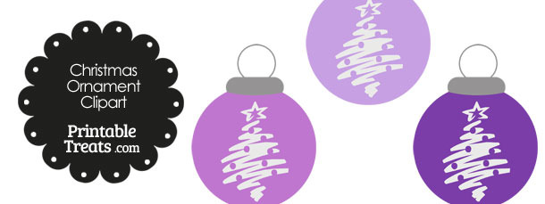 Purple Christmas Tree Christmas Ornament Clipart