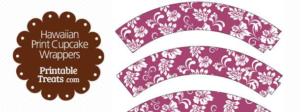 free-purple-hawaiian-print-cupcake-wrappers