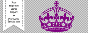 free-purple-keep-calm-crown-clipart