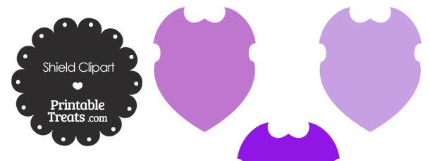 Purple Shield Clipart