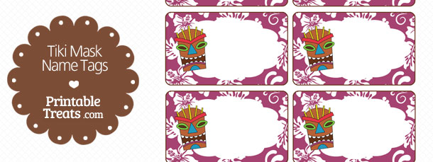 free-purple-tiki-mask-name-tag-printable