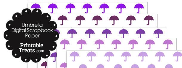 Purple Umbrella Digital Scrapbook Paper