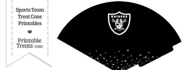 Raiders Treat Cone Printable