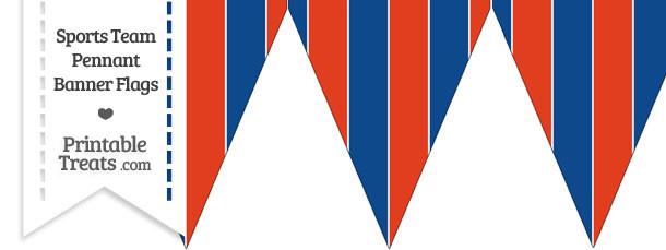 Rangers Colors Pennant Banner Flag