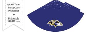 Ravens Party Cone Printable
