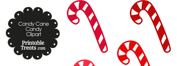 Red and White Candy Cane Clipart