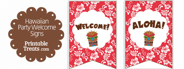 free-red-hawaiian-party-welcome-sign