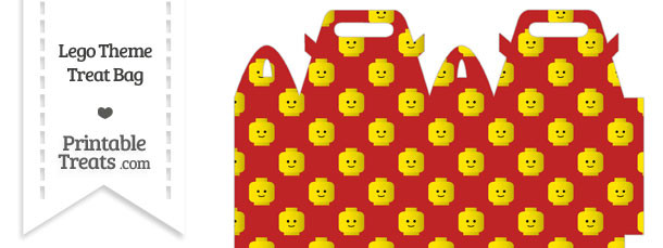 Red Lego Theme Treat Bag