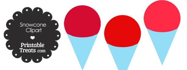 Clip Art Snow Cone Clip Art red snow cone clipart printable treats com clipart
