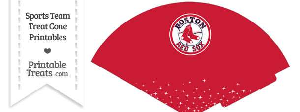 Red Sox Treat Cone Printable