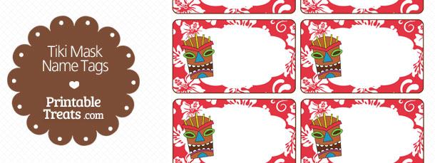 free-red-tiki-mask-name-tag-printable