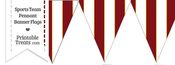 Redskins Colors Pennant Banner Flag