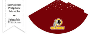 Redskins Party Cone Printable