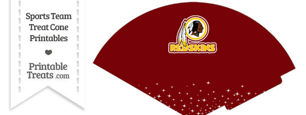 Redskins Treat Cone Printable