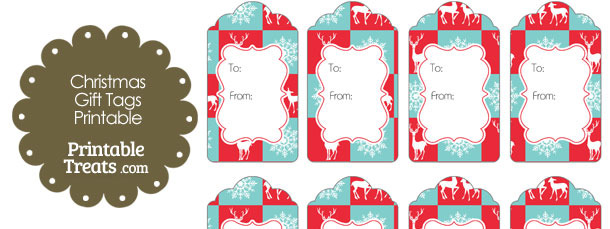 Reindeer and Snowflakes Gift Tags