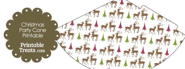 Reindeer Party Cone