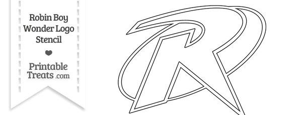 Robin Boy Wonder Symbol Stencil Printable Treats