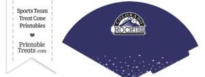 Rockies Treat Cone Printable