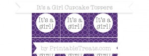 free-royal-purple-quatrefoil-pattern-its-a-girl-cupcake-toppers-to-print