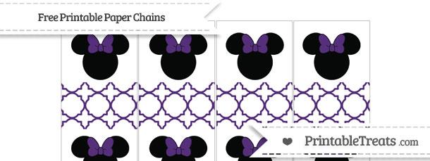 Free Royal Purple Quatrefoil Pattern Minnie Mouse Paper ...