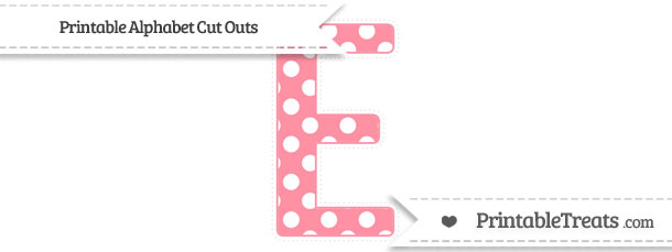 Free salmon pink polka dot extra large capital letter e cut outs free salmon pink polka dot extra large capital letter e cut outs spiritdancerdesigns Gallery