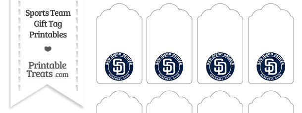 San Diego Padres Gift Tags