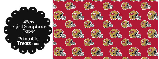 San Francisco 49ers Football Helmet Digital Paper