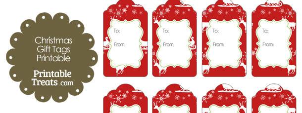 Santas Sleigh Gift Tags