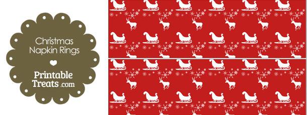 Santas Sleigh Napkin Rings
