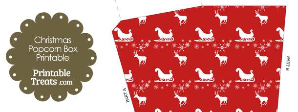 Santas Sleigh Popcorn Box