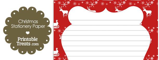 Santas Sleigh Stationery Paper