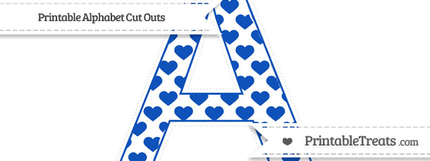 Free Sapphire Blue Heart Pattern Extra Large Capital