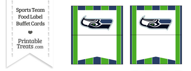 Seahawks Food Label Buffet Cards
