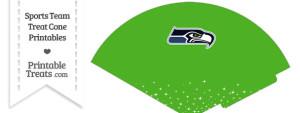 Seahawks Treat Cone Printable