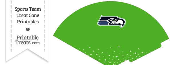 Seahawks Treat Cone Printable