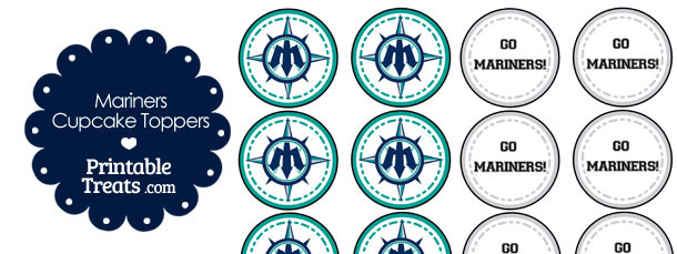 Seattle Mariners Cupcake Toppers