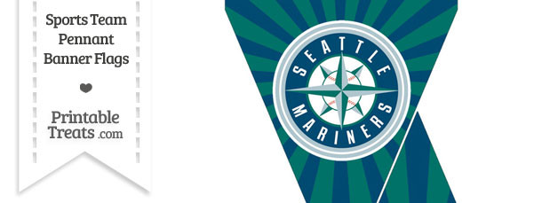 Seattle Mariners Mini Pennant Banner Flags
