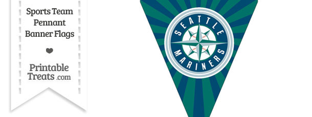 Seattle Mariners Pennant Banner Flag